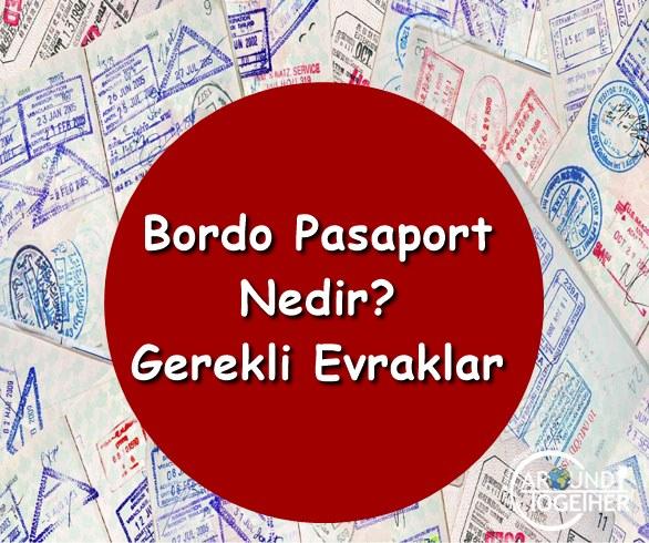 bordo pasapor için gerekli evraklar