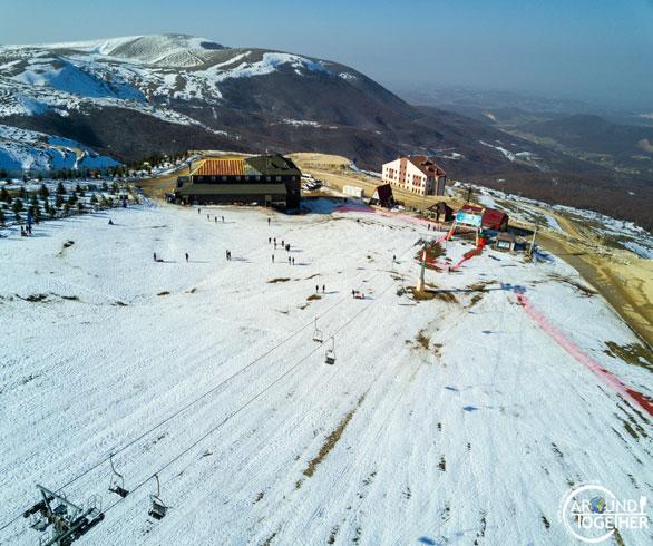 ladik kayak merkezi havadan görüntü