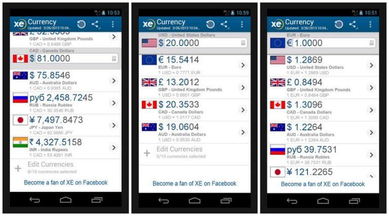 money change app