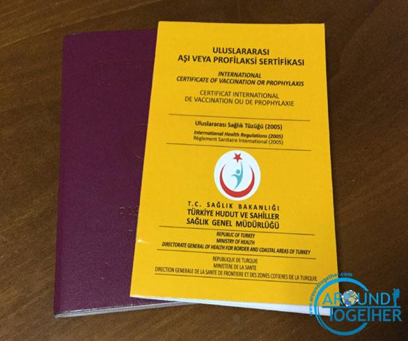 travel vaccines certificate