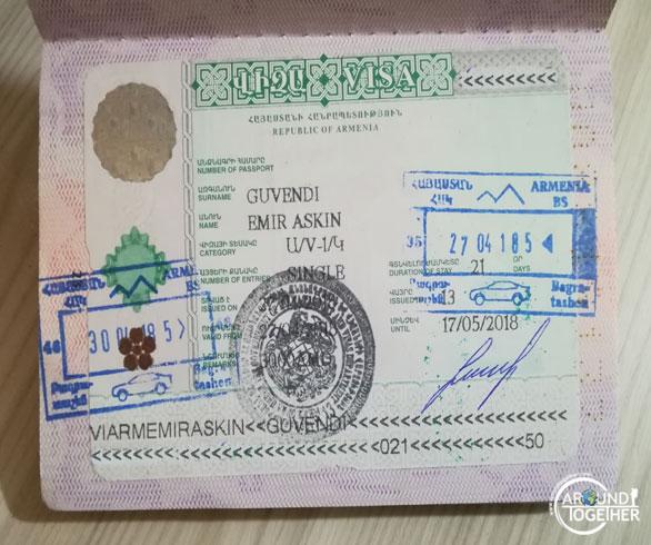 ermenistan vizesi ücreti